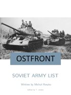 Soviet Army List for Ostfront