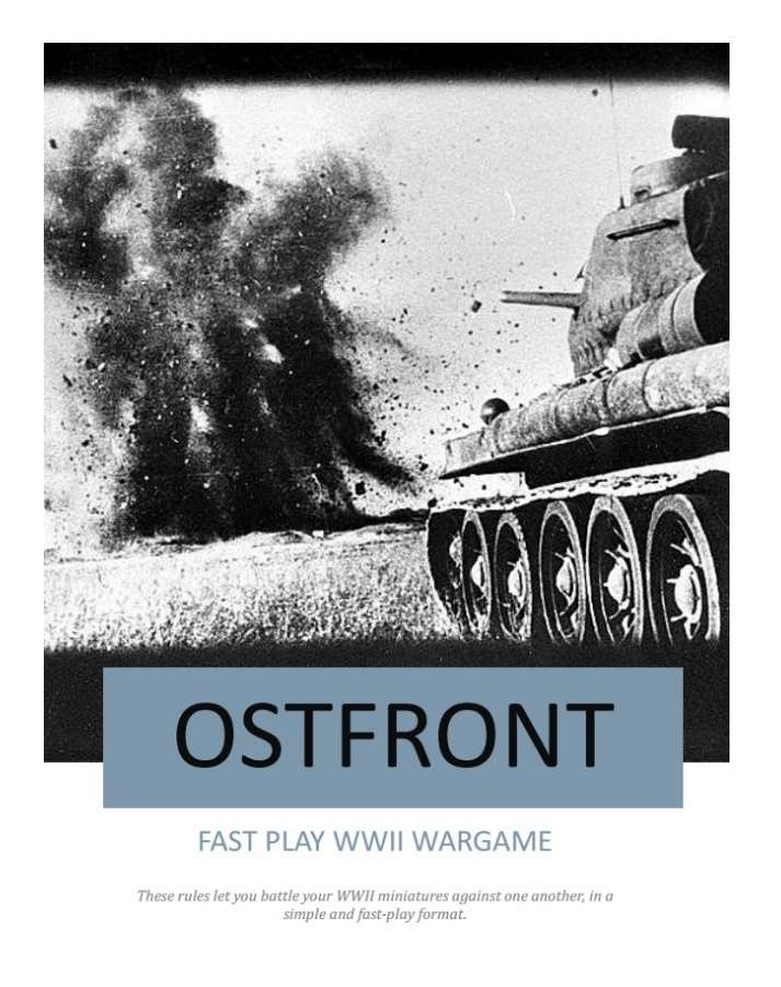Ostfront - Main Rules - Ostfront | Wargame Vault