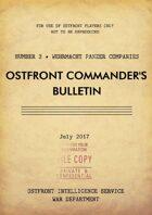 Ostfront Commander's Bulletin - Wehrmacht Panzer Companies