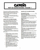 CAPERS Not-So-Super-Powers Vol 1