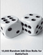 Random BattleTech Dice tables