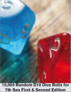 Random 7th Sea Dice tables