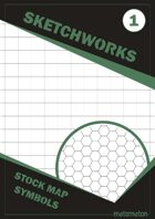 Sketchworks Stock Map Symbols #1: Square & Hexagonal Grids
