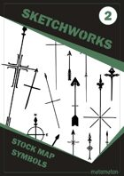 Sketchworks Stock Map Symbols #2: North Arrows