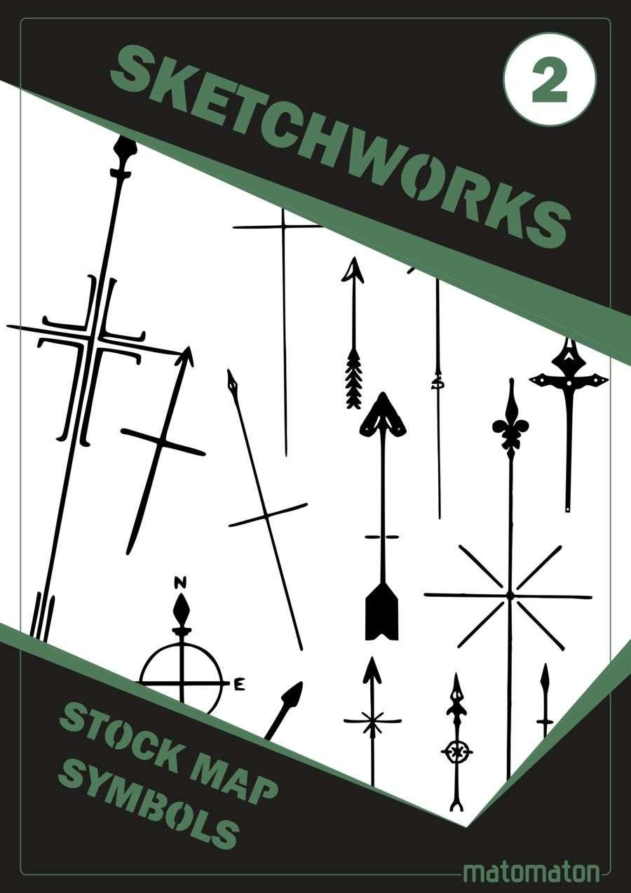 Sketchworks stock map symbols 2 north arrows matomaton sketchworks stock map symbols 2 north arrows quick preview biocorpaavc