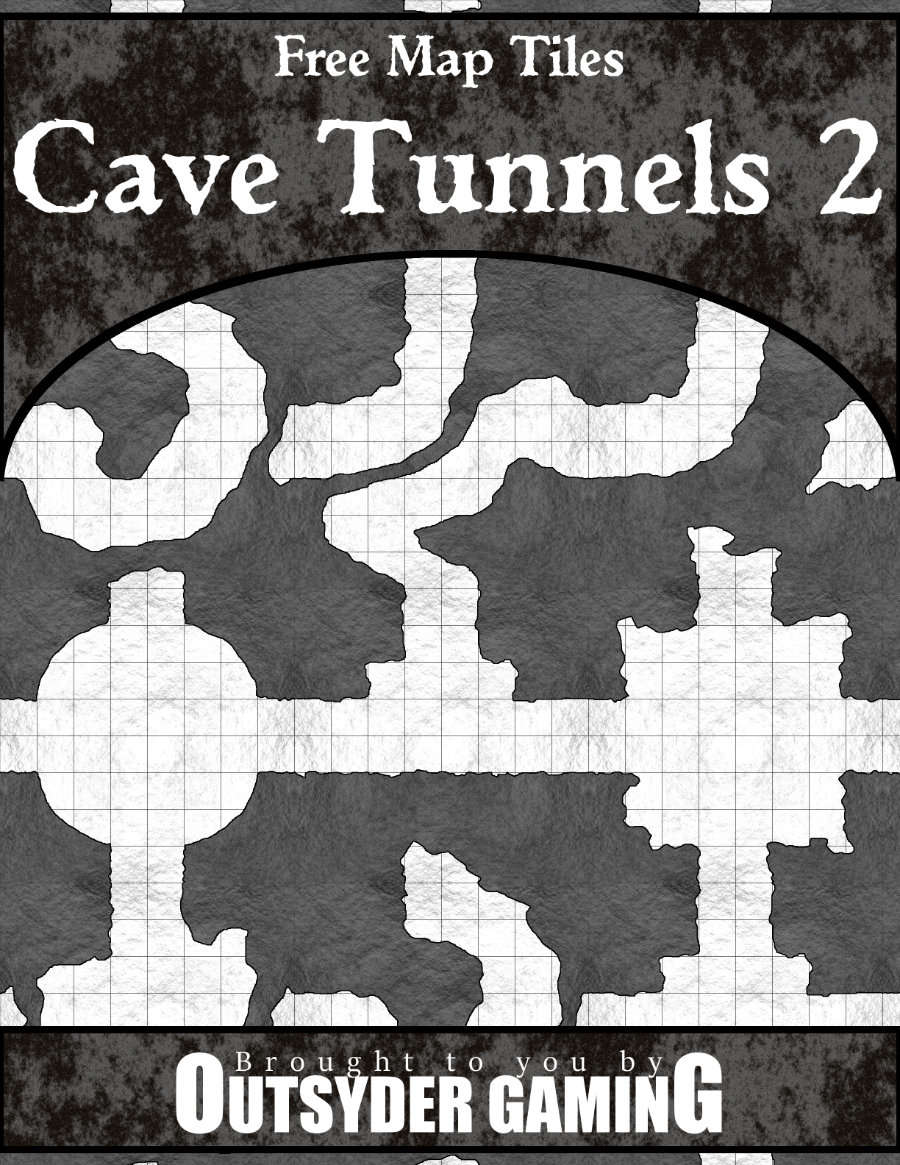 Free Map Tiles: Cave Tunnels 2 - Copper Dragon Games