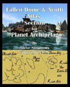 Fallen Dome Atlas Section for Planet Archipelago