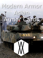 Modern Armor - Asian Armor Cards