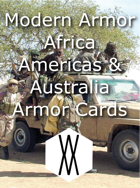 Modern Armor - Africa, the Americas, and Australia Armor Cards