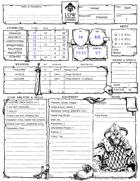 Pregen Characters (Form Fillable, B&W Deluxe sheet)