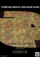 1 Page Hexagonal War Game Maps - Low Cliffs and Mesas (A4)