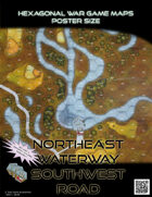 Hexagonal War Game Maps - Northeast Waterway Southwest Road
