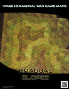 1 Page Hexagonal War Game Maps - Gradual Slopes (US Letter)