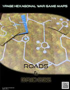 1 Page Hexagonal War Game Maps - Roads and Bridges