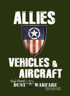 Dust Warfare Cards: Allies - Vehicles & Aircraft 1947
