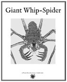 Weekly Beasties: Giant Whip-Spider
