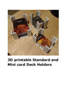 3D printable deck holders