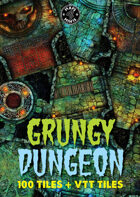 100 Grungy Dungeon Tiles