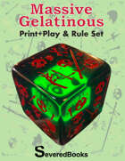 Massive Gelatinous Cube Print + Play + Rule Set
