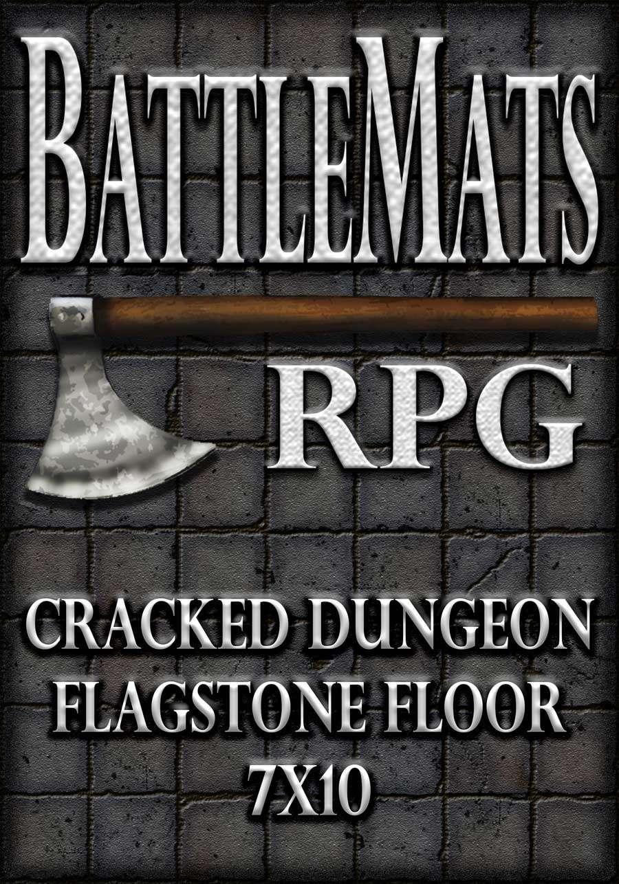 Cracked Dungeon Flagstone Floor 7x10