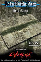 "Death Road 36"" x 24"" RPG Encounter Map"