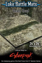 "Death Road 24"" x 24"" RPG Encounter Map"
