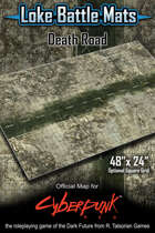 "Death Road 48"" x 24"" RPG Encounter Map"