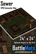 "Sewer 24"" x 24"" RPG Encounter Map"