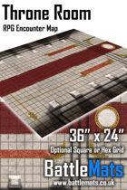 "Throne Room 36"" x 24"" RPG Encounter Map"