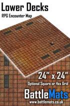 "Lower Decks 24"" x 24"" RPG Encounter Map"