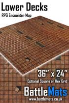 "Lower Decks 36"" x 24"" RPG Encounter Map"