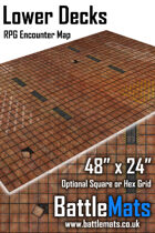 "Lower Decks 48"" x 24"" RPG Encounter Map"