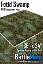 "Fetid Swamp 36"" x 24"" RPG Encounter Map"