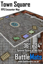 "Town Square 36"" x 24"" RPG Encounter Map"