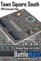 "Town Square South 24"" x 24"" RPG Encounter Map"
