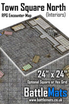 "Town Square North Interiors 24"" x 24"" RPG Encounter Map"