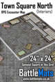 """Town Square North Interiors 24"""" x 24"""" RPG Encounter Map"""