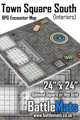 "Town Square South Interiors 24"" x 24"" RPG Encounter Map"