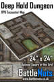 """Deep Hold Dungeon 24"""" x 24"""" RPG Encounter Map"""