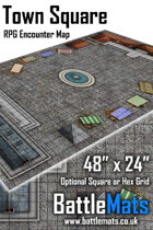 "Town Square 48"" x 24"" RPG Encounter Map"