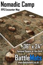 "Nomadic Camp 36"" x 24"" RPG Encounter Map"
