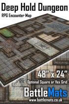 "Deep Hold Dungeon 48"" x 24"" RPG Encounter Map"
