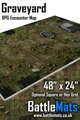 "Graveyard 48"" x 24"" RPG Encounter Map"