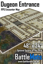 "Dungeon Entrance 48"" x 24"" RPG Encounter Map"