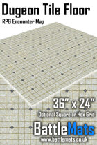 "Dungeon Tile Floor 36"" x 24"" RPG Encounter Map"