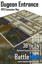 "Dungeon Entrance 36"" x 24"" RPG Encounter Map"