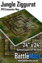 "Jungle Ziggurat 24"" x 24"" RPG Encounter Map"