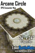"""Arcane Circle 24"""" x 24"""" RPG Encounter Map"""