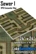"Sewer I 24"" x 24"" RPG Encounter Map"