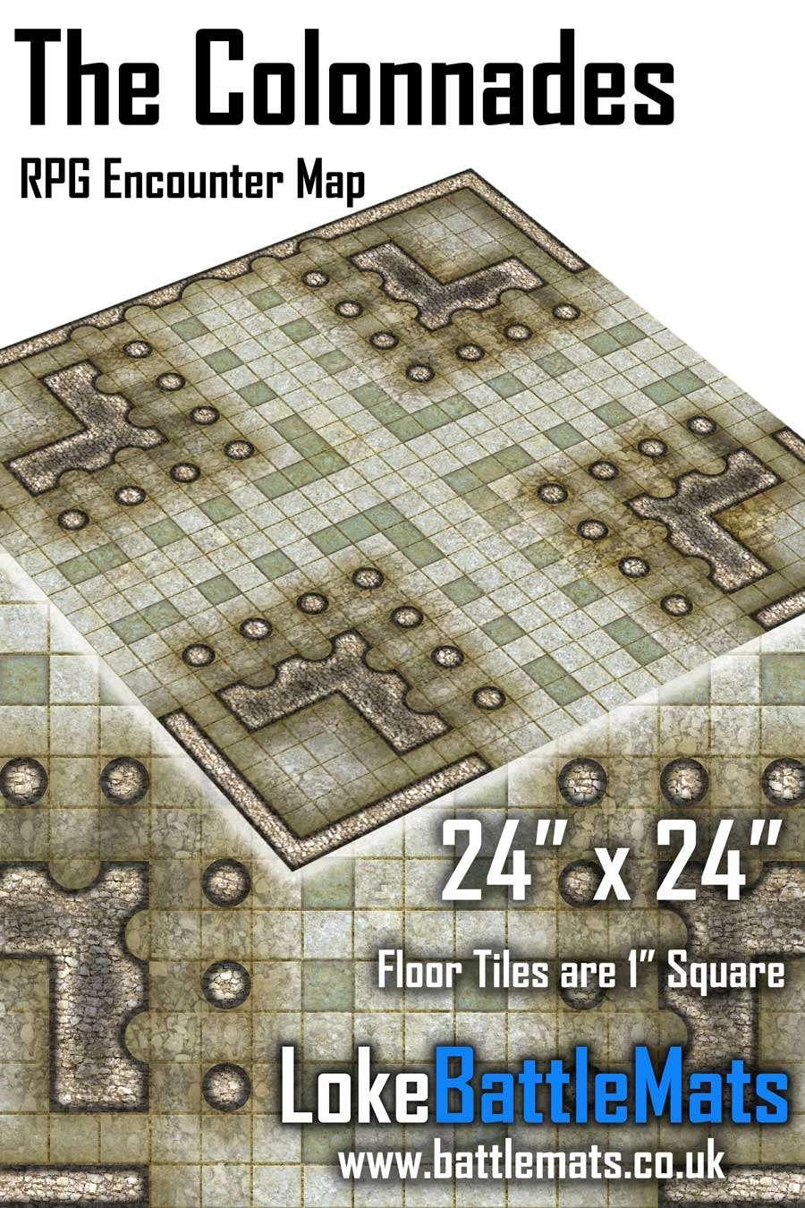 "The Colannades 24"" x 24"" RPG Encounter Map"
